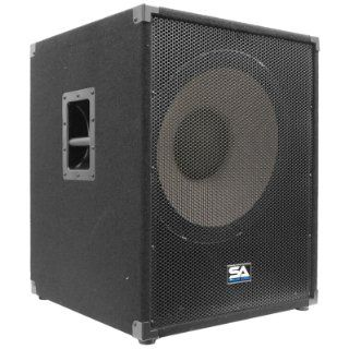 """Seismic Audio   Enforcer II PW   Powered PA 18"""" Subwoofer Speaker Cabinet Musical Instruments"""