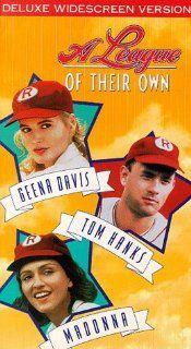 A League of Their Own [VHS] Tom Hanks, Geena Davis, Lori Petty, Madonna, Rosie O'Donnell, Anne Ramsay, Jon Lovitz, Bill Pullman, Penny Marshall Movies & TV