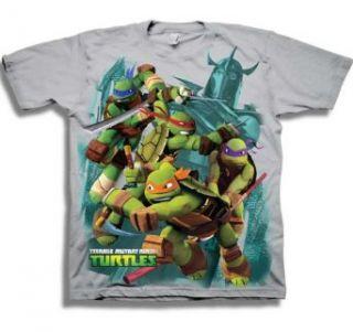 Teenage Mutant Ninja Turtles TMNT Vs Shredder Cartoon Juvenile T Shirt Tee Clothing
