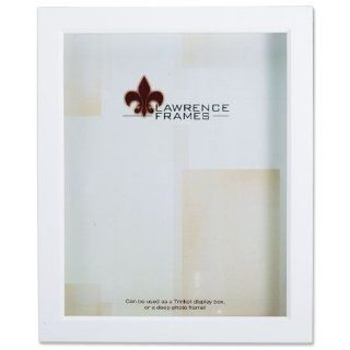 Lawrence Frames 795280 White Wood Treasure Box Shadow Box Picture Frame, 8 by 10 Inch