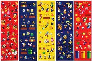 350 Super Mario & Luigi Party Favor Stickers Kitchen & Dining