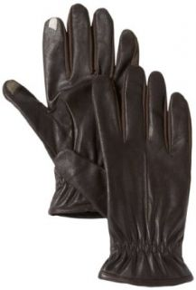 Isotoner Men's Smartouch Stretch Glove with Full Wrist Gather and Draw Fleece Lined, Black, Large at  Men�s Clothing store