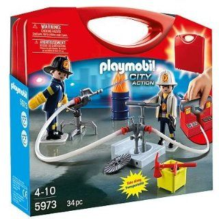 Playmobil City Action Fireman Playset   5973 toy gift idea birthday: Toys & Games
