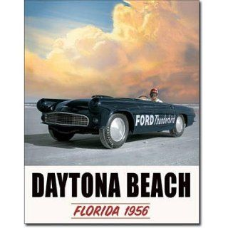 Ford Thunderbird Daytona Beach Retro Vintage Tin Sign   Prints