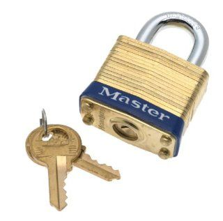 "Master Lock #4D 1 1/2"" Brass Padlock"