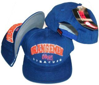 Syracuse Orangemen Blue Vinage Deadstock Adjustable Snapback Hat / Cap by Super Sports  Sports Fan Baseball Caps  Sports & Outdoors