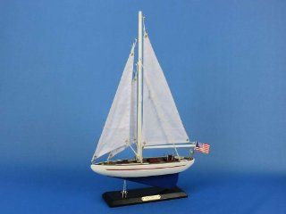 "Enterprise 16""   Wood Sailboat Centerpiece   Scale Model Ship   Wooden Ship Model   Model Sailing Yacht   Sailboat Decoration  Sailing Boat Model   Not a Model Ship Kit   Collectible Vehicles"