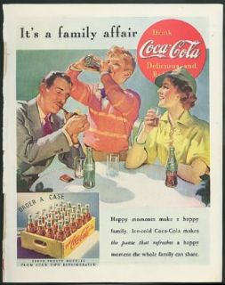 It's a family affair Coca Cola ad 1937 Mom Dad Son drink by Sundblom Entertainment Collectibles