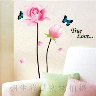 DIY Flower Butterfly Wall Sticker Decals LW966   Decorative Stickers