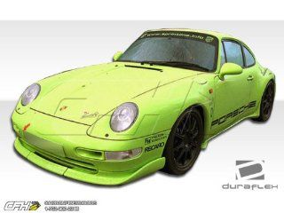 1995 1998 Porsche 993 C2 C4 Targa Duraflex Club Sport Body Kit   4 Piece   Includes Club Sport Front Lip Under Spoiler Air Dam (105106) Club Sport Side Skirts Rocker Panels (105107) Club Sport Rear Wing Trunk Lid Spoiler (105108): Automotive