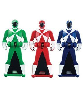 Power Rangers Super Megaforce   Lightspeed Rescue Legendary Ranger Key Pack, Red/Blue/Green: Toys & Games