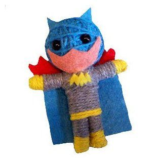 DC Comics Batman: Batgirl String Doll Keychain: Novelty Keychains: Clothing