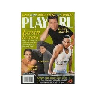 Playgirl Magazine, issue dated  October 1999.   Ricky Martin, Enrique Iglesias, Chayanne, Benjamin Bratt.  More NUDE studs.: Books