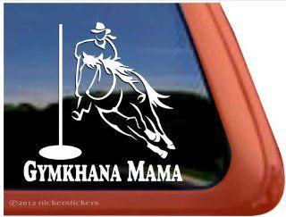 Gymkhana Mama ~ Pole Bending Horse Trailer Vinyl Window Decal Sticker Automotive