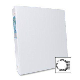 Aurora 09072 1.5 Inch Capacity Round Ring Binder White, 8.5 x 11 Inches