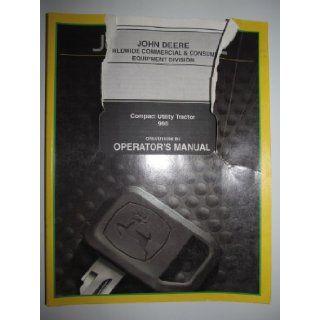 John Deere 990 Compact Utility Tractor Operators Owners Manual OMLVU16396 B4 John Deere Books