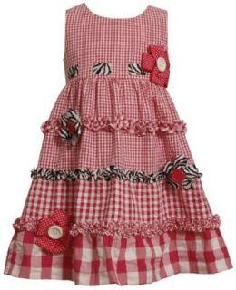 Bonnie Jean Girls 2 6X Seersucker Dress with Pull Thru Ribbon on Bodice Clothing