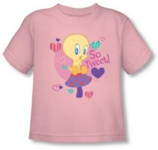 Looney Tunes   Tweety Pie So Tweet Toddler T Shirt T Shirt Novelty T Shirts Clothing