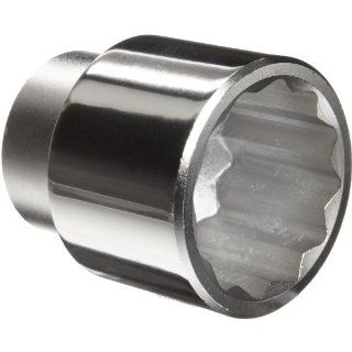 """Martin H1248 Forged Alloy Steel 1 1/2"""" Type III Opening 3/4"""" Square Drive Socket, 12 Points Standard, 2 5/16"""" Overall Length, Chrome Finish Industrial & Scientific"""