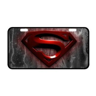 "PanBox COOL Superman Logo Front License Plate Cover Frame Auto Vehicle Car Front Protector   Size:12"" X 6"" : Consumerelectronics : Sports & Outdoors"