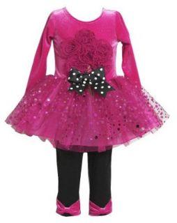 Bonnie Jean Girls Sparkle Bouquet Tutu Leggings Set Apparel Belts Clothing