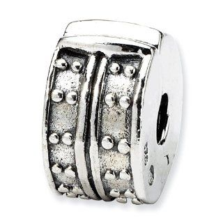 Sterling Silver Reflections Hinged Dotted Clip Bead: West Coast Jewelry: Jewelry