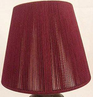 """6, BURGUNDY, CHANDELIER, or, CANDLE LIGHTS, CLIP ON, LAMP SHADES, SHADE, is, about, 3"""" ACROSS TOP X 5"""" at BOTTOM X 4"""" TALL,"""