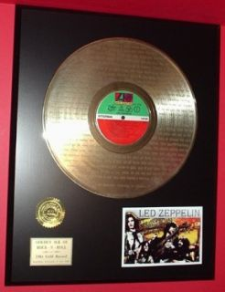 "Led Zeppelin Gold LP Record W/Lyrics Display Actually Plays ""Stairway To Heaven"": Entertainment Collectibles"