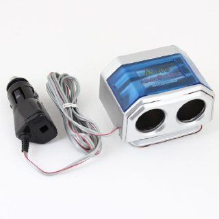 DC 12V 2 Way Socket Splitter Car Self Adhesive Cigarette Lighter Charger Adapter Automotive