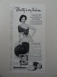 SweetHeart Soap, 1950 illustration, Print Ad.(Caroline O'Connor) Original 1950 Woman's Day Magazine Print art