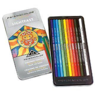 Prismacolor Premier Lightfast Colored Pencils, 24 Colored Pencils(44036)  Wood Colored Pencils