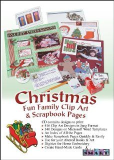 ScrapSMART   Christmas Family Fun Clip Art and Scrapbook Pages Software   416 Designs and 340 Templates [Download]: Software