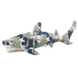 "14"" Aqua Camo Shark Plush Stuffed Animal Toy Toys & Games"