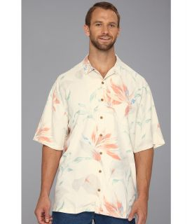 Tommy Bahama Big & Tall Big Tall Singing The Blooms Camp Shirt Mens Short Sleeve Knit (White)