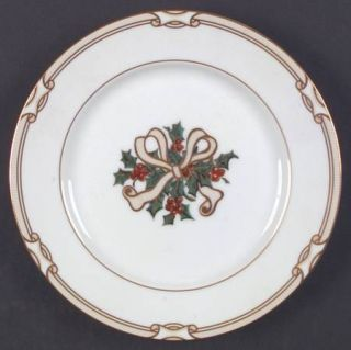 Fitz & Floyd Eastchester Accent Salad Plate, Fine China Dinnerware   Gold Pin Li