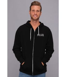 Poler Venn Diagram Zip Hoodie Mens Sweatshirt (Black)