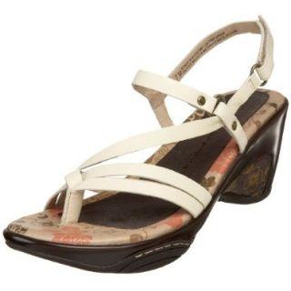 Jambu Women's St. Martin Ankle Strap Sandal,Cream,5 M US Shoes