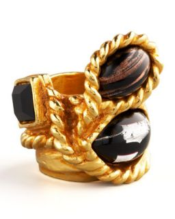 Saint Laurent Three Stone Arty Ring