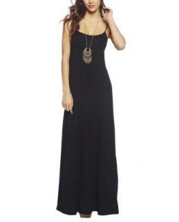 Wet Seal Women's Open Back Maxi Dress L Black at  Women�s Clothing store