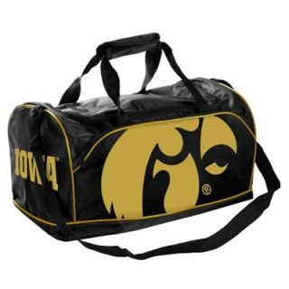 Iowa Hawkeyes Core Logo Extra Small Duffle Bag   Black