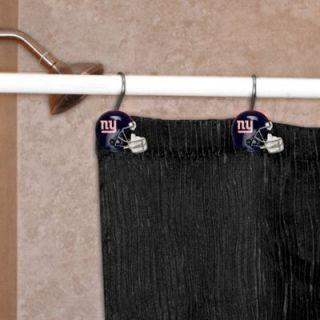 New York Giants 12 Piece Metal Shower Curtain Rings