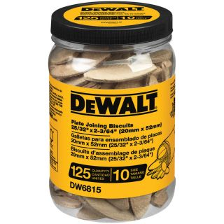 DEWALT 125 Count 10 Size Plate Joining Biscuits