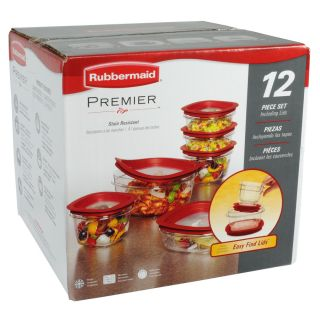 Rubbermaid 12 Piece Plastic Food Storage Containers