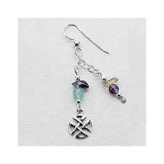 Well Being Earrings w/Celtic Symbol: Susan Buzard: Jewelry