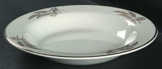 Lifetime Prairie Gold Rim Soup Bowl, Fine China Dinnerware   Gold Wheat