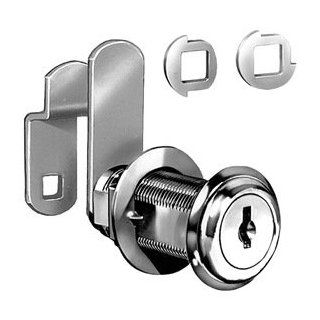Disc Cam Lock, Nickel, Key Different   Cabinet And Furniture Locks