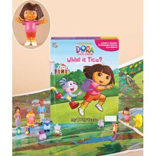 Dora the Explorer   Where is Tico?   Storybook Playset w/ 12 Figures (My Busy Books) Phidal Publishing Inc. 9782764317631 Books