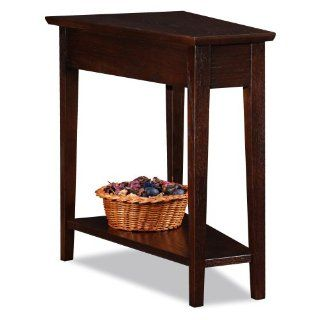 Leick Recliner Wedge Chocolate Oak End Table