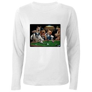 Dogs Playing Pool T Shirt by shirtpervert