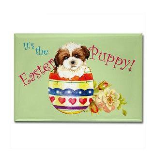 Easter Shih Tzu Rectangle Magnet by dogsink